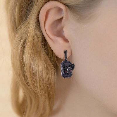 Schädel Schmetterling Ohrringe