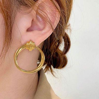 Ineinander verschlungene Kreise Ohrringe