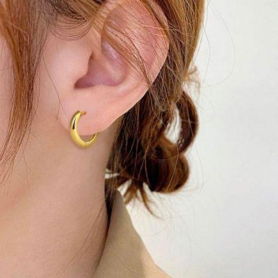 Polierte ringartige Ohrringe