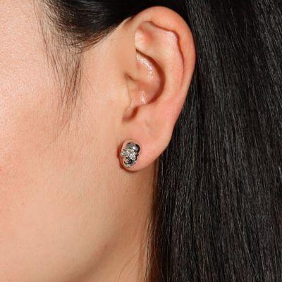 Silber Schädel Ohrringe