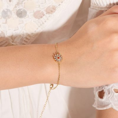 Weiß Gänseblumen Armband
