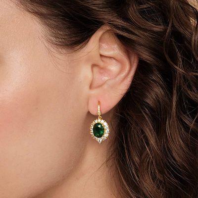 Grüne Saphir Ohrringe