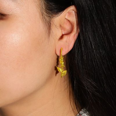 Blumen Anhänger Ohrringe