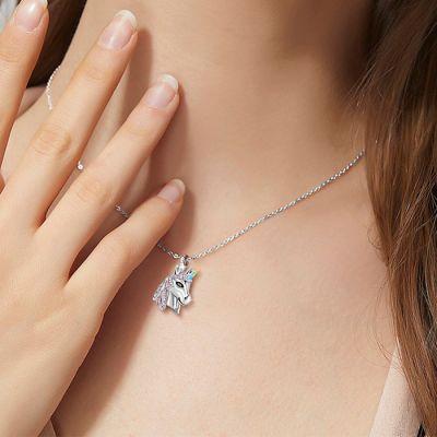 Bunte Einhorn Halskette