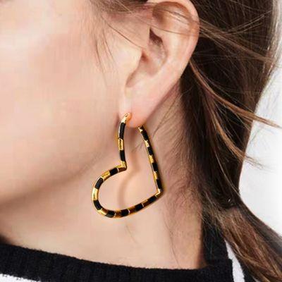 Schwarze Herz Ohrringe