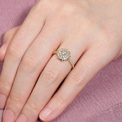 Blumen Versprechen Ring