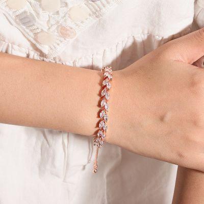 Verstellbares Olivenblättern Armband