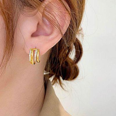 Mehrschichtig Creolen Ohrringe