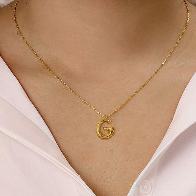 Buchstaben Bambus Halskette