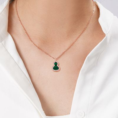 Malachit Kürbis Halskette