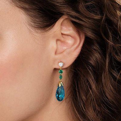 Auberginen blaue Ohrringe