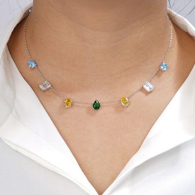 Farbige Steine Halskette
