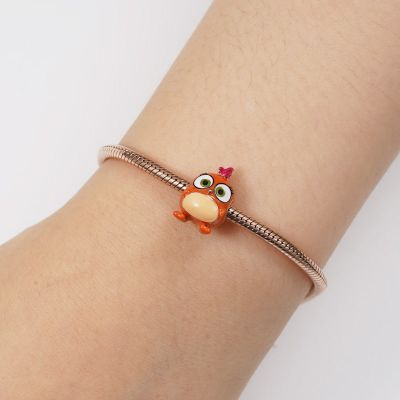 Orange Vögel Charm