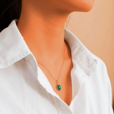 Malachit Anhänger Halskette