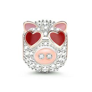 Herz Augen Schwein
